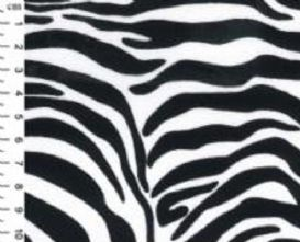 100% Cotton Zebra Animal Print Fabric x 0.5m